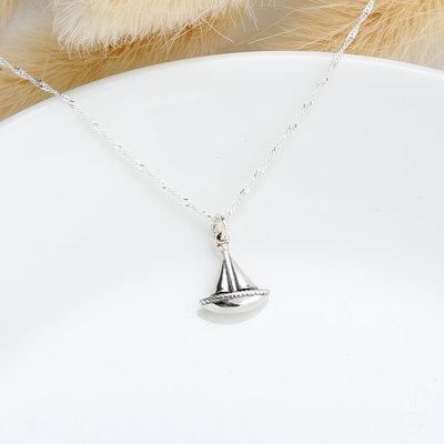 一帆風順 帆船 sailboat s925 純銀項鍊 畢業 情人節 聖誕節 禮物