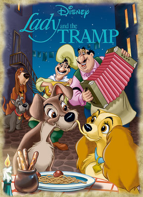 歐洲進口拼圖 JUM 迪士尼 小姐與流氓 Lady & the Tramp 1000片拼圖 19486
