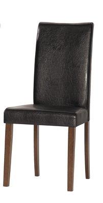 【宏興HOME BRISK】羅林柏餐椅(皮)(實木)。QM新品20
