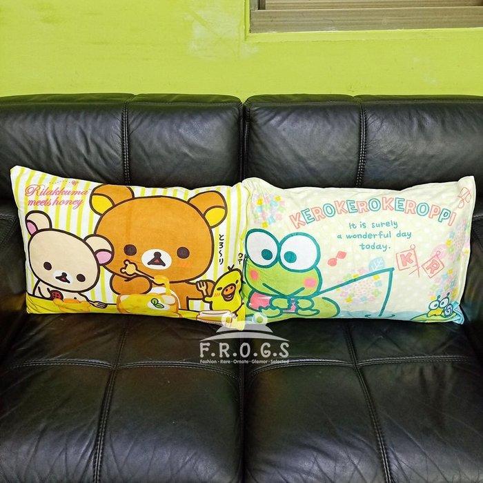 F.R.O.G.S MB0033輕鬆熊拉拉熊可洛比大眼蛙造型枕頭套枕套枕芯套床套靠枕套抱枕套(現+預)