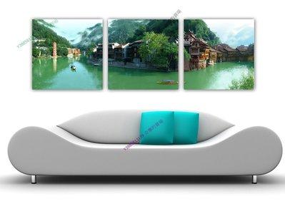 【60*60cm】【厚2.5cm】風景-無框畫裝飾畫版畫客廳簡約家居餐廳臥室牆壁【280101_032】(1套價格)