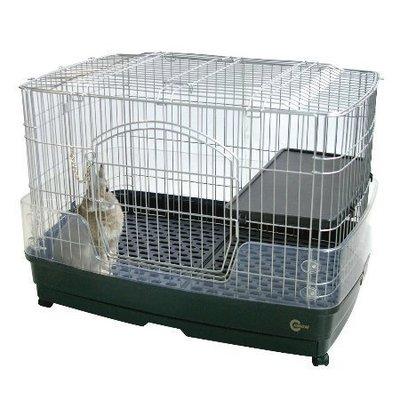 48小時出貨*白喵小舗*【免運】日本MARUKAN新款抽屜式兔籠MR-306(附跳板+輪子)M號~可上開 新北市
