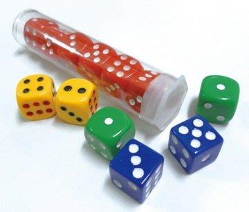 【鑫鑫文具】旻新(雷鳥) LT-240 0號彩色骰子(6入)~26元