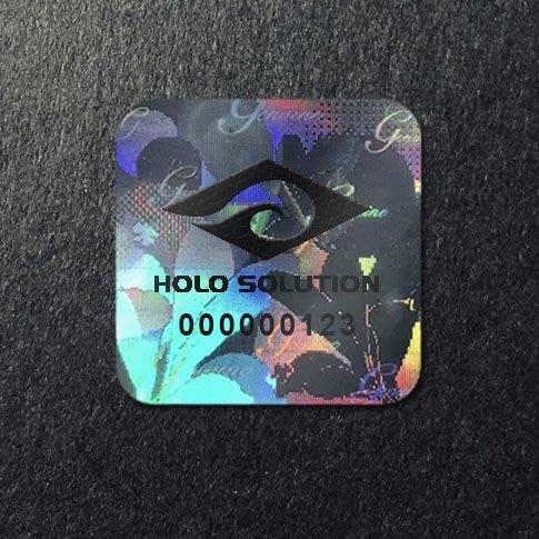 雷射標籤 防偽標籤貼紙 雷射商標 【具防拆功能】【1000張】【客製印刷logo】花1 RT-08