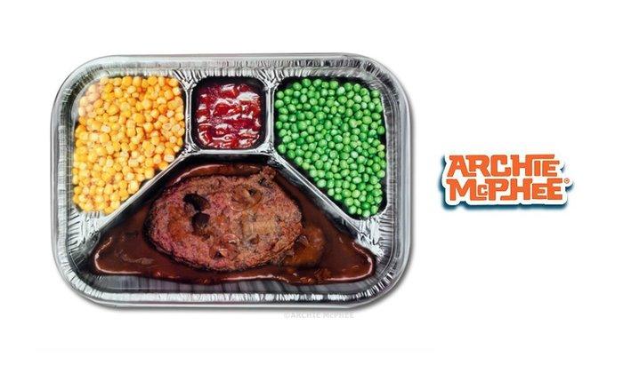GOODFORIT / 美國Archie McPhee TV Dinner電視微波餐主題金屬托盤