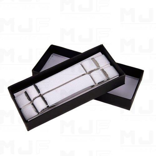MJFLAIR 麥傑花式調酒- 寬1cm 可調式彈性布袖束-白