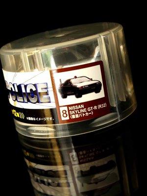 A-52 櫃 : WONDA COFFEE THE POLICE 8號 SKYLINE R32 迴力車 富貴玩具店