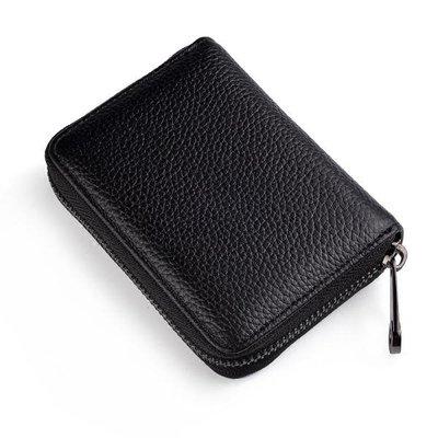 頭層牛皮男士卡包真皮信用卡套拉鏈卡夾女多卡位小卡片包證件卡包