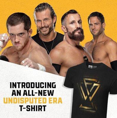 [美國瘋潮]正版WWE Undisputed Era Spray T-shirt NXT四人軍團金色噴沙最新款衣服預購中