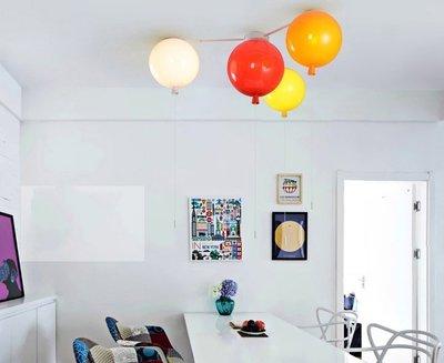 【奇滿來】童趣兒童房燈 吸頂燈 氣球燈支架4頭(純支架不含燈罩) 氣球燈燈架漂浮氣球 LED燈架 親子餐廳 AGDB