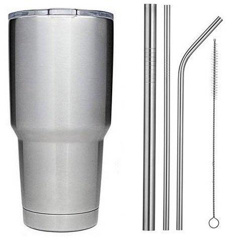 【日式】304不鏽鋼冰霸杯+第三代吸管密封蓋+304不鏽鋼吸管+防水杯套,900ml 酷冰杯/冰炫杯/保溫杯 山3367