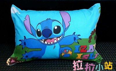史迪奇枕頭~正版迪士尼~史迪奇枕頭~兒童枕頭~午睡枕~靠枕~可拆洗~全省宅配
