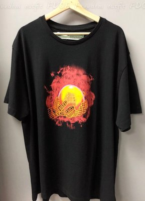 [FDOF] 預購OFF-WHITE 19SS HANDS AND PLANET T-SHIRT火球 短袖