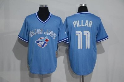 116cm-136cm胸 blue jays球衣mlb藍鳥隊棒球服11號pillar藍灰紅白色短袖t恤比賽lee