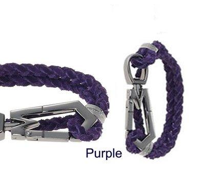 ☆青兒小公主☆MARC JACOBS Double Wrap Bracelet 紫色 麂皮 手環/ 頸鍊