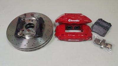 正 F50 brembo W210 前煞車卡鉗 整組  (盤面直徑345) 內含卡鉗+盤+來令片+轉接座+油管