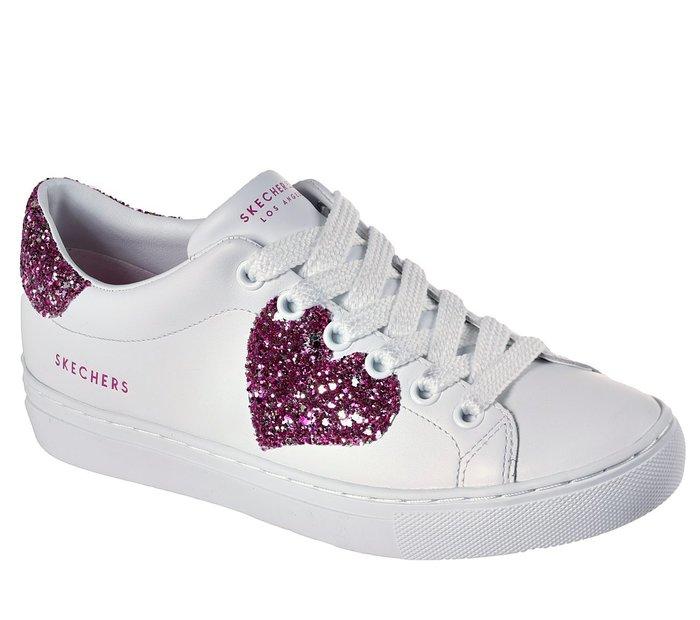 新品上架官網同步SKECHER Street Side 73559 WPK Love Always愛心標誌氣墊記憶鞋墊
