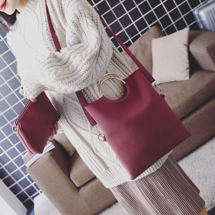女包2019新款欧美时尚子母包托特包简约休闲圆环手提包单肩斜挎包  衣品居 YPJ