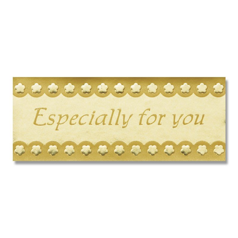 ☆╮Jessice 雜貨小鋪╭☆日本進口 禮品 封條 金色 especially for you 貼紙 84枚$70