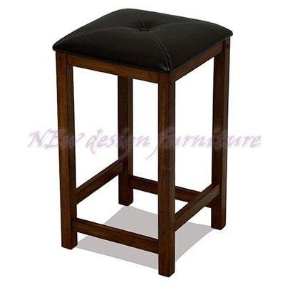 【N D Furniture】台南在地家具-經典時尚橡膠木全實木皮墊吧檯椅/吧椅/餐椅