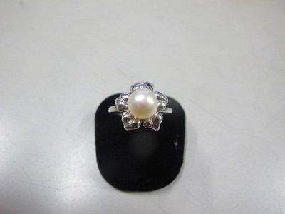 二手舖 NO.3974 天然珍珠 造型戒指 首飾飾品 全新