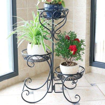 好物多商城 鐵藝多層歐式花架陽臺白色室內花盆架客廳組裝吊蘭綠蘿花架子