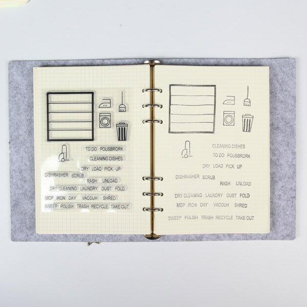 《Jami Honey》【JC2767】居家生活英文字母透明矽膠印章