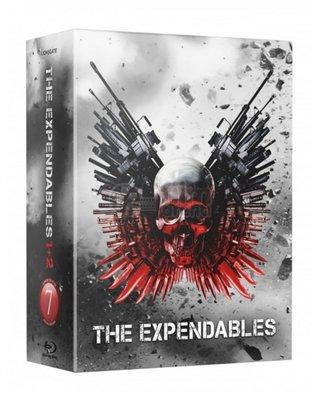 毛毛小舖--藍光BD 浴血任務1+2 全紙盒幻彩限量鐵盒版 The Expendables 席維斯史特龍 李連杰