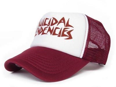 【超率性SUICIDAL TENDENCIES網帽☆K066-6☆酒紅款】台灣製  帽子專賣店