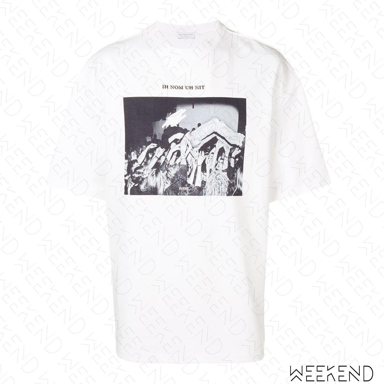 【WEEKEND】 IH NOM UH NIT Crowd Surf 男女同款 短袖上衣 T恤 白色 19春夏