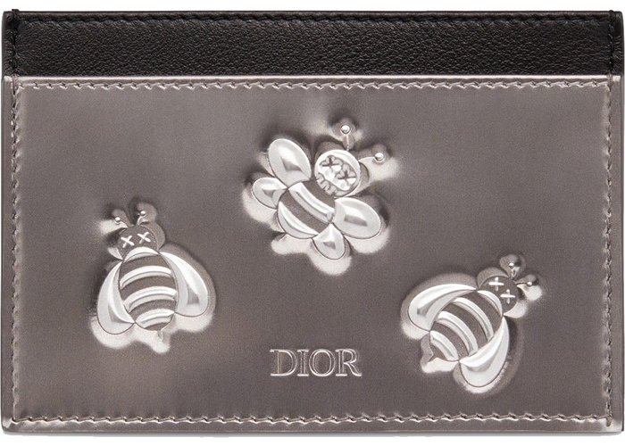 【紐約范特西】預購 Dior x Kaws Card Holder Calfskin Bee Print