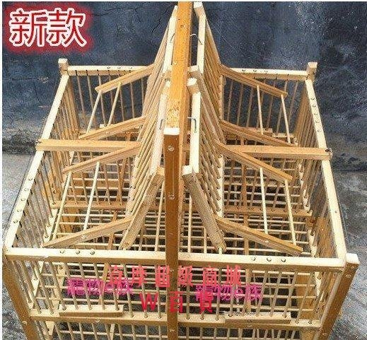 果凍[6機關8機關木制鳥籠打籠踏籠滾籠拍籠可養捕養餵捉拍蟲1894