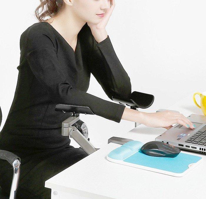 5Cgo【權宇】金康碩鋁合金人體工學設計可升降360度調節 電腦手托手臂支撐架 支架 肘托 避免頸椎病 可以升降款 含稅