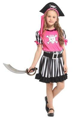 乂世界派對乂萬聖節服裝-萬聖節服裝/海盜服裝/兒童變裝服/兒童海盜裝扮/俏皮粉紅小海盜