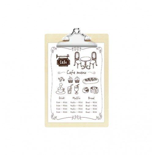 【無敵餐具】日本製板夾式菜單板A4(W230xH335mm)品質優良餐廳專用/文書/菜單夾量多可來電【E0070】