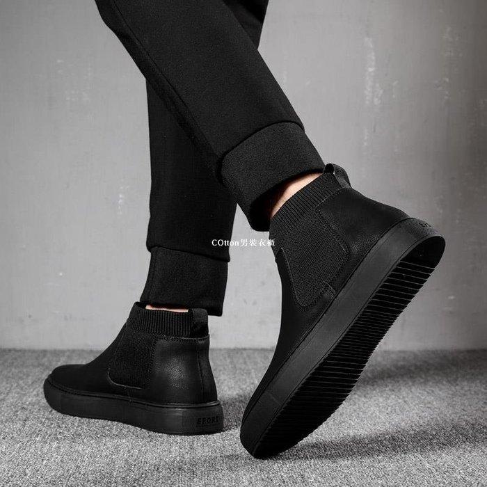 COtton男裝衣櫃奧象2020春季新款馬丁靴靴子高幫皮鞋男士中幫百搭短靴潮冬男款