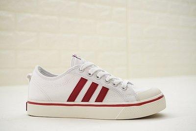 D-BOX Adidas Nizza Blanc Bordeaux LO 米色 紅線 低筒 百搭 帆布鞋 男女休閑鞋