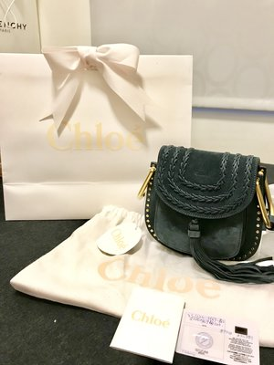 Chloe Hudson mini Tassle Crossbody Bag 流蘇 藍 專櫃正品 現貨