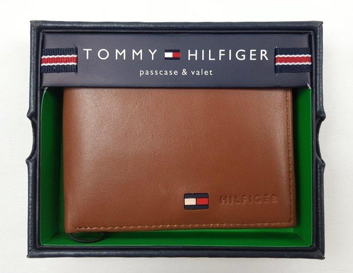 特價899元~☆ 瘋加州 ☆ Tommy Hilfiger 真皮 短夾/皮夾 附皮製盒蓋包裝 (駝色) 1380