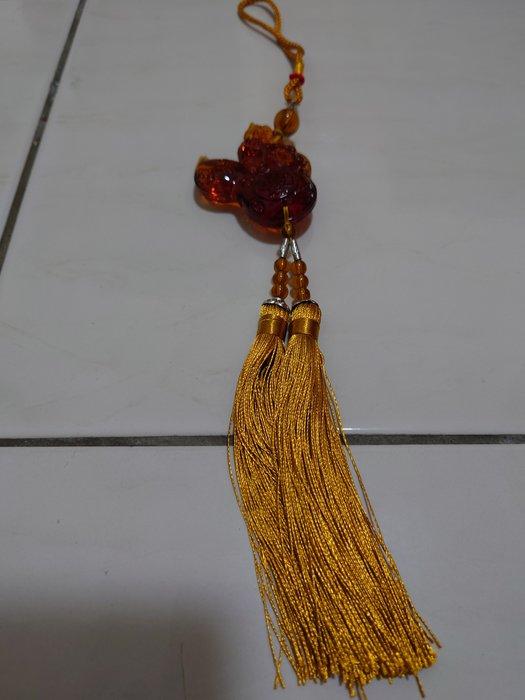 黃琉璃招財貔貅吊飾