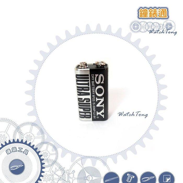 【鐘錶通】SONY ─ 6F22 / S006 P - 9V(1入) 碳鋅電池/乾電池/一次性電池/消費電池
