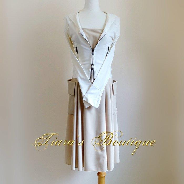 FOXEY NEW YORY 日本女性憧憬度第一的淑女品牌 百搭駝色休閒淘氣洋裝 日本製 (404)