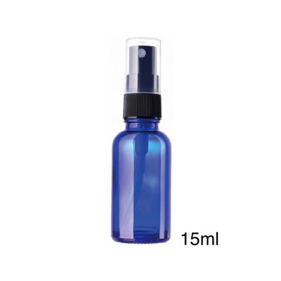 【現貨】臺灣製🇹🇼15ml玻璃噴霧瓶【藍色避光玻璃噴霧瓶】