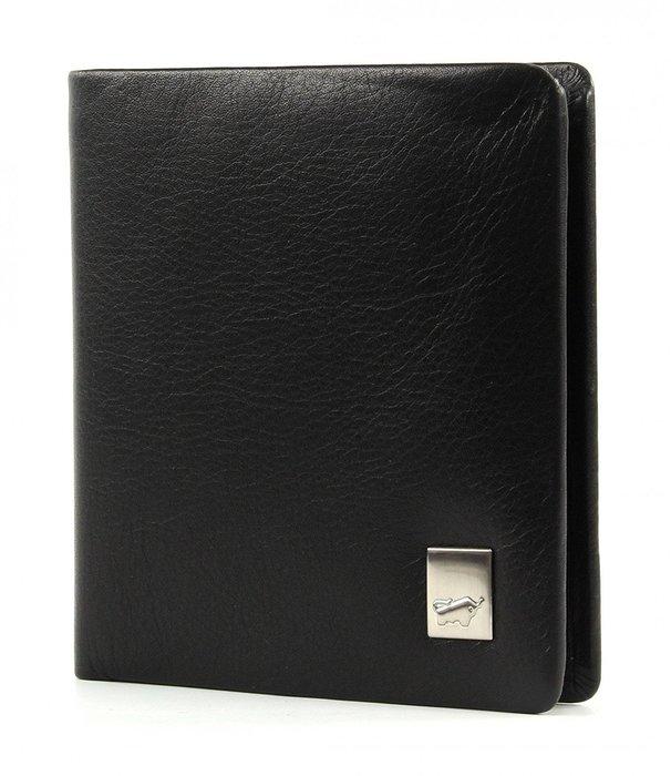 德國小金牛【BRAUN BUFFEL】Zürich 系列3卡零錢袋短夾錢包皮夾-經典黑