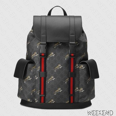 【WEEKEND】 GUCCI GG Bestiary Tigers 老虎 後背包 495563 19秋冬