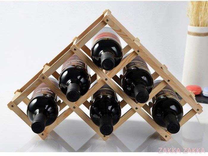折疊酒架 酒瓶架子 6瓶裝 歐式時尚紅酒架 葡萄酒架 電視柜酒柜吧台客廳餐廳居家裝飾佈置擺飾♡幸福底家♡