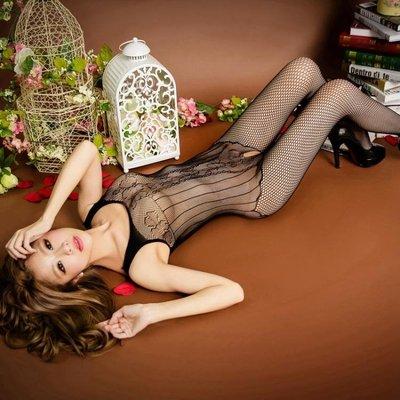 大碼性感連身連體開檔美腿情趣絲襪