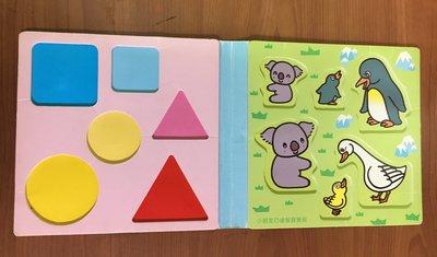 巧虎玩具教具巧連智親子企鵝 鴨子 無尾熊 動物樂園 認識形狀組