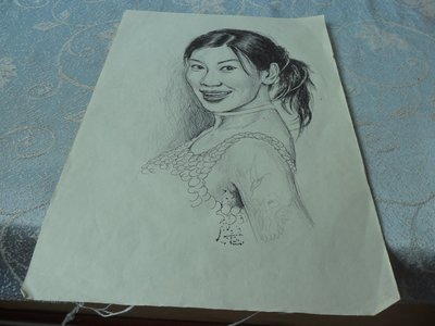 藍色小館10-9--------美女創作畫