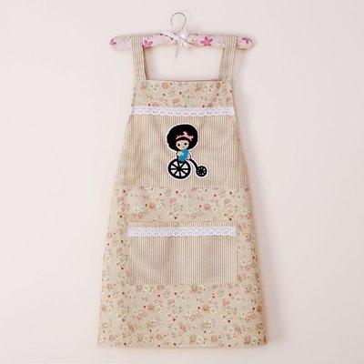 圍裙 防水 美甲圍裙 正韓 餐廳 韓版時尚可愛成人廚房女圍裙罩衣背帶款式加厚工作服